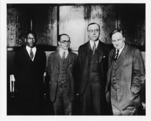 Henry Sweet and attorneys Julian Perry, Tom Chawkes, and Clarence Darrow.jpg
