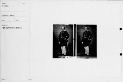 Mathew B Brady Collection of Civil War Photographs › B-5614 Gen. Benjamin F. Butler. - Fold3.com