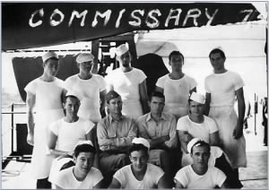Sc1 Bill BASSETT and Chief Jim PAGE on USS Prescue Isle 1945.png