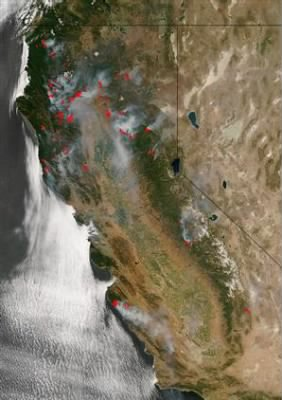 More than 800 wildfires in California 6/24/2008