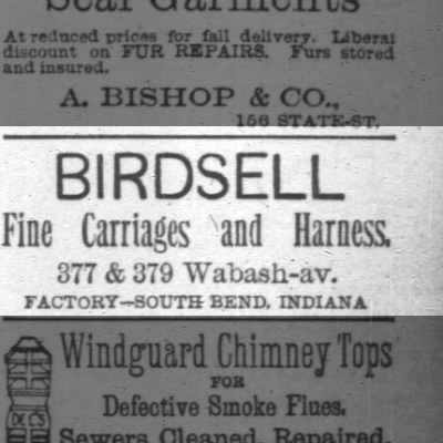 ad birdsell carriages.